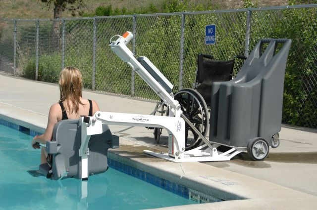 The benefits of having a pool lift mobility scooters blog mobility scooters direct for Hydraulic chair lift for swimming pool
