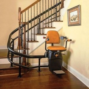 Curved Stair Lift - SPIRAL Staircase Lift