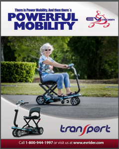 EV Rider TranSport Plus Folding Mobility Scooter
