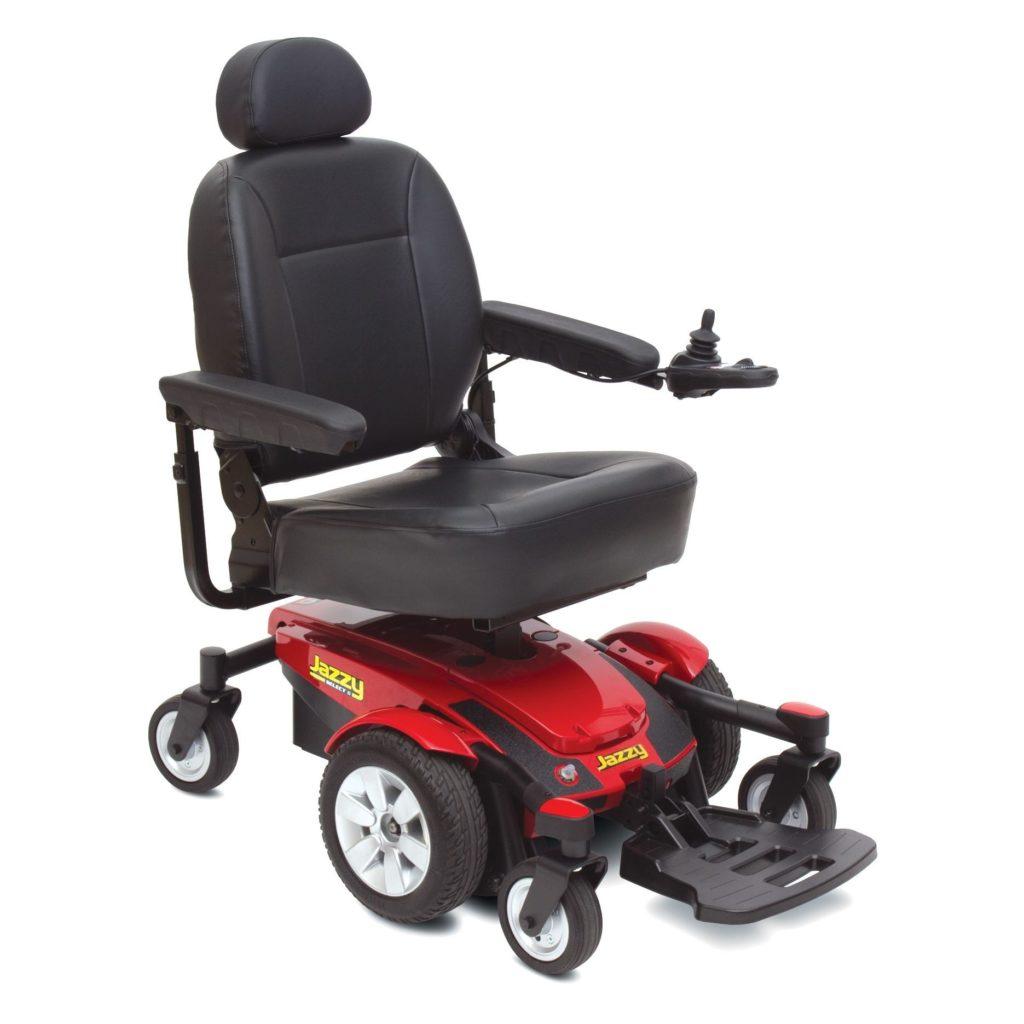 Jazzy Select 6 power wheelchair. Photo via Pride Mobility.