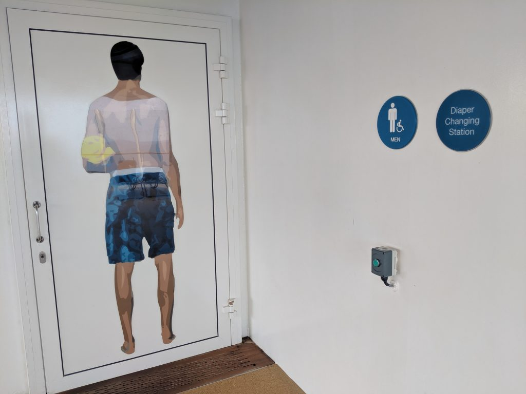 bathroom door with accessibility on cruises