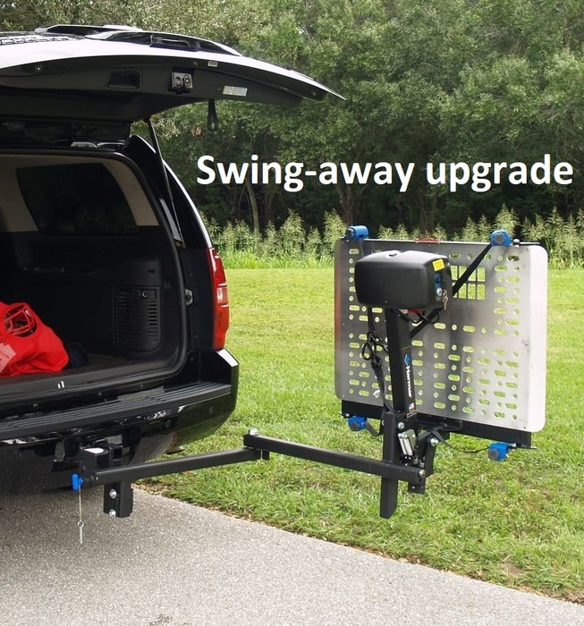 swing away vehicle lift for mobility scooters