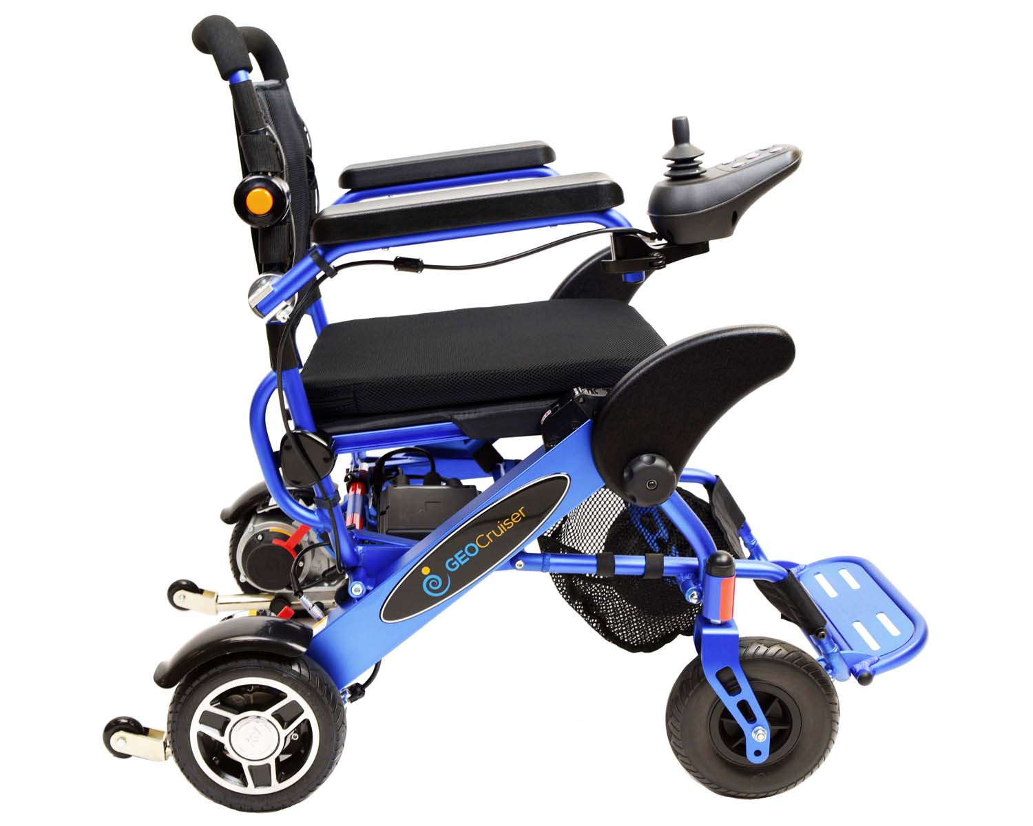 Geo cruiser dx folding power wheelchair on sale mobility for Fold up scooters motorized