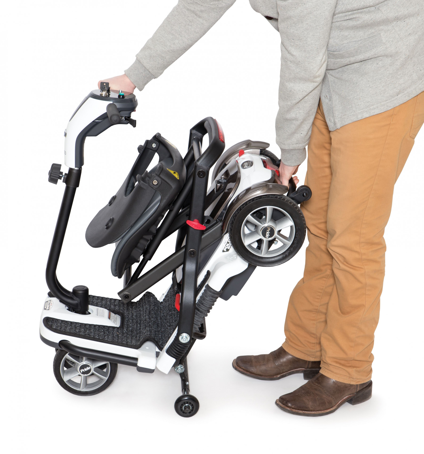 Pride go go folding scooter s19 best price online tax for Go go motorized scooter