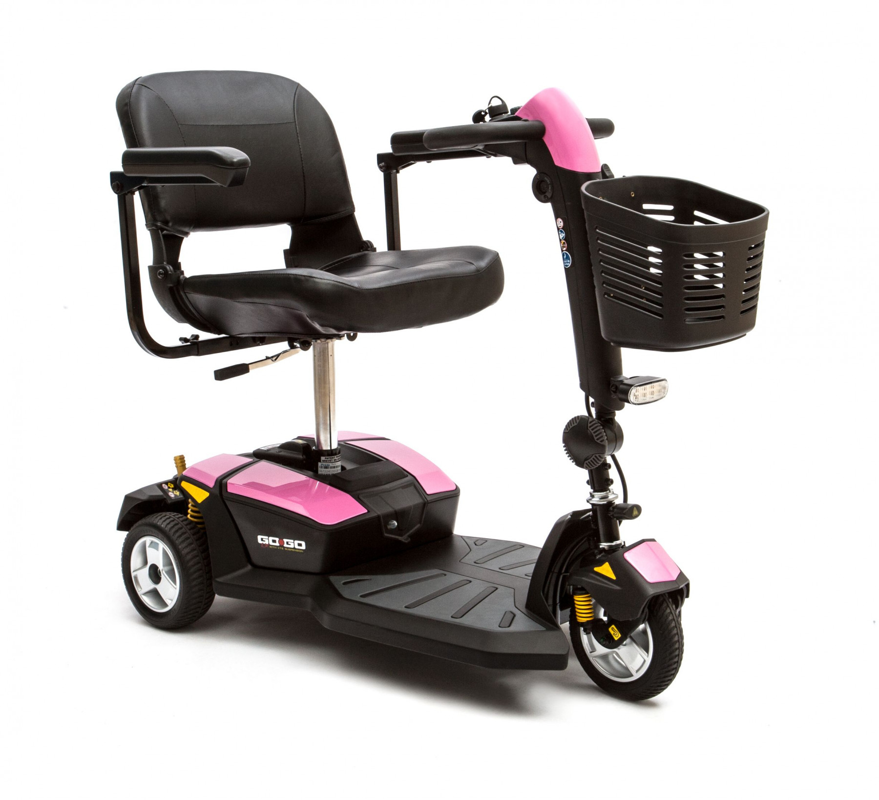 Pink electric wheelchair - Pride Go Go Lx 3 Wheel Scooter Pink Breast Cancer Awareness
