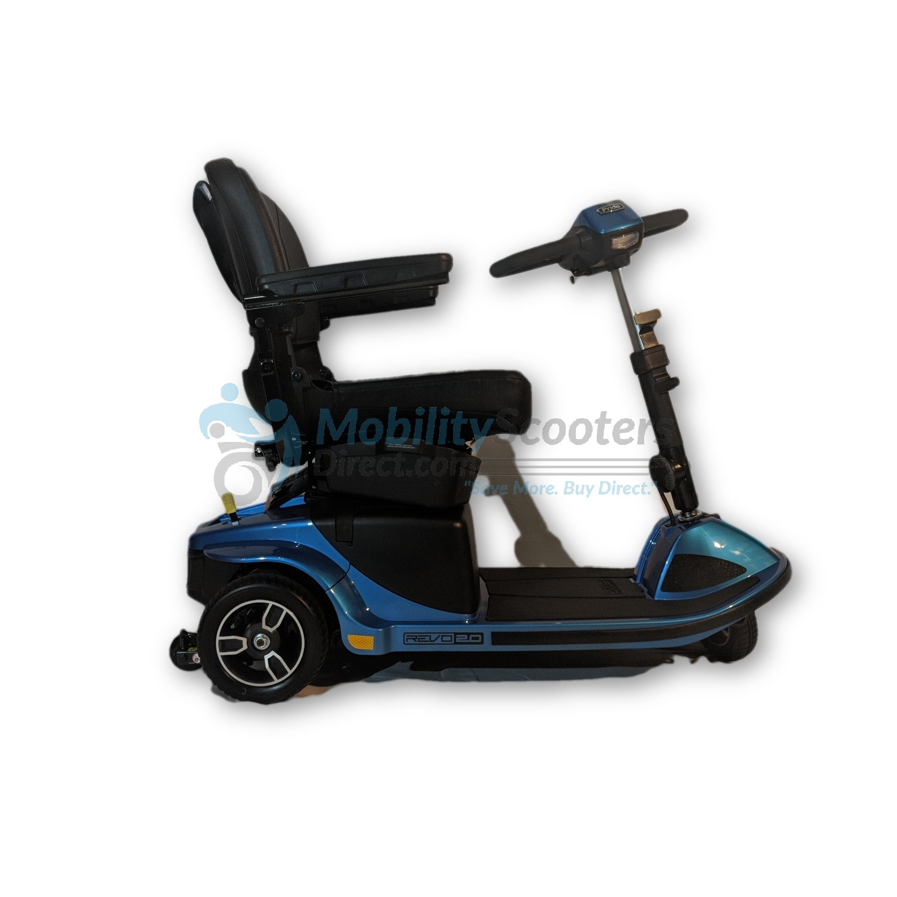3 wheel revo 2 0 mobility scooter by pride mobility for. Black Bedroom Furniture Sets. Home Design Ideas