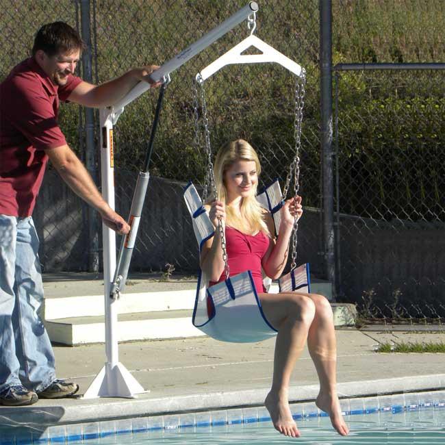 EZ Manual Pool Lift In-Use
