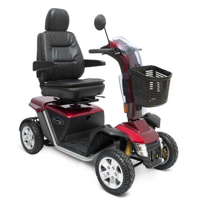 Red Pride Pursuit XL PMV Mobility Scooter for Sale