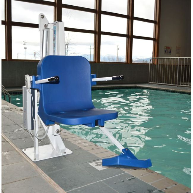 Pathfinder Pool Lift with Anchor Installed