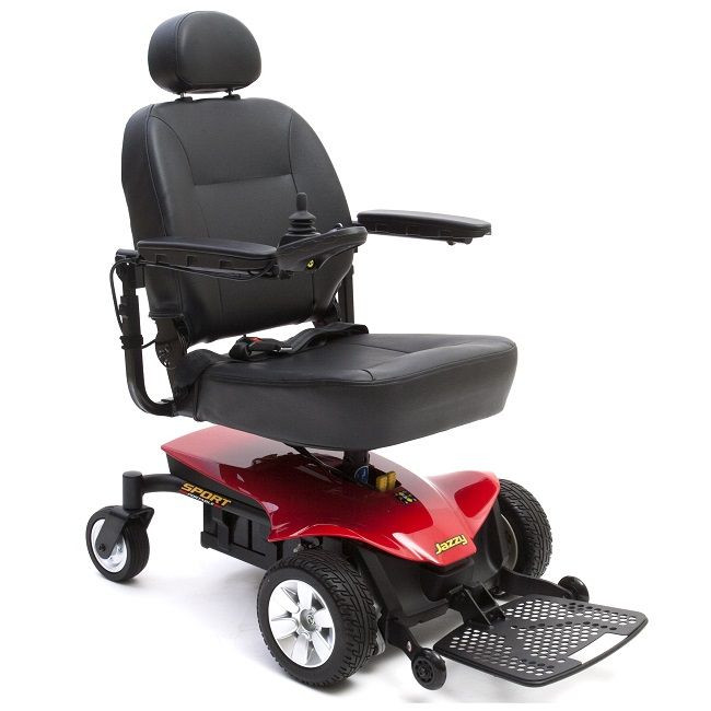Red Jazzy Sport Portable Power Wheelchair for Sale