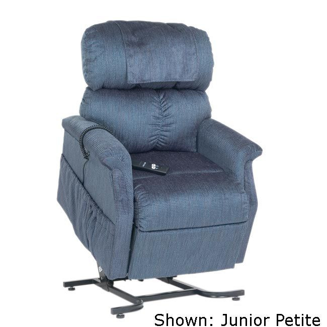 Comforter PR-501 Small/Junior Petite 3-Position Lift Chair Blue