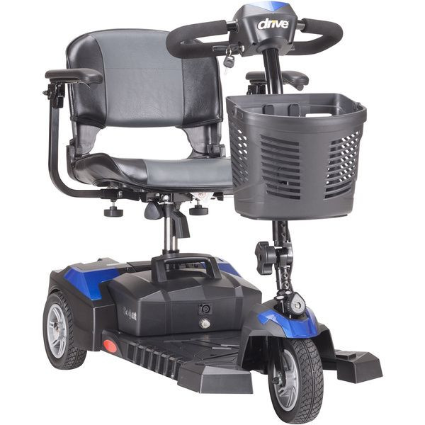 Drive Medical Spitfire Scout DLX 3 Wheel Blue Mobility Scooter for Sale