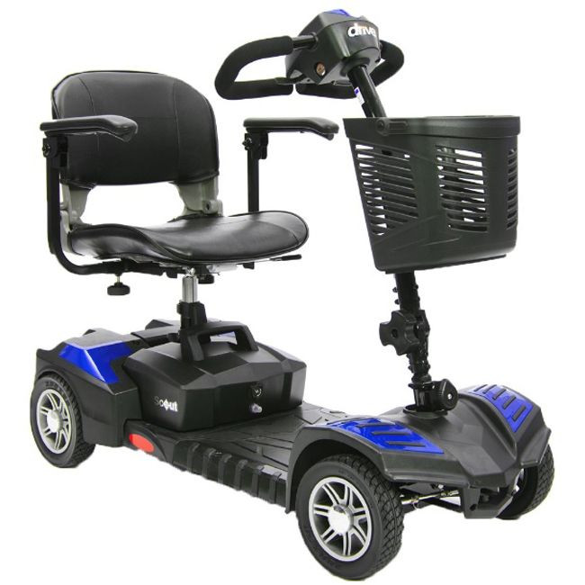 Drive Medical Spitfire Scout DLX 4 Wheel Blue Mobility Scooter for Sale