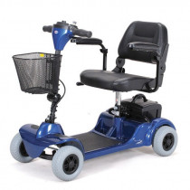 Merits Health S549 Mini-Coupe 4-Wheel Mobility Scooter Blue