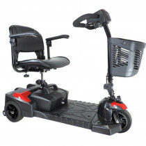 Drive Medical Spitfire Scout 3 Wheel Mobility Scooter Red