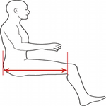 mobility scooter measurement guide seat depth